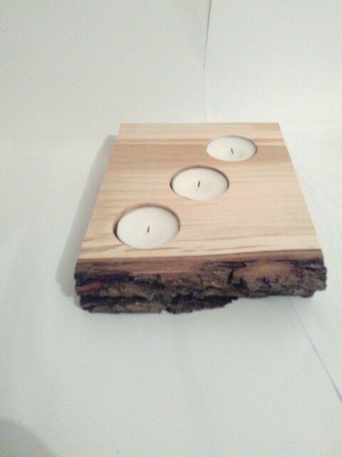 candle holder from pear wood