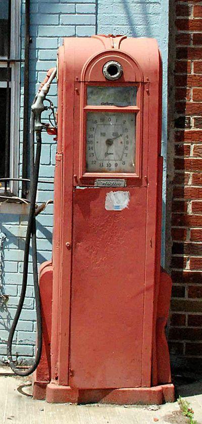 Antique gas pump