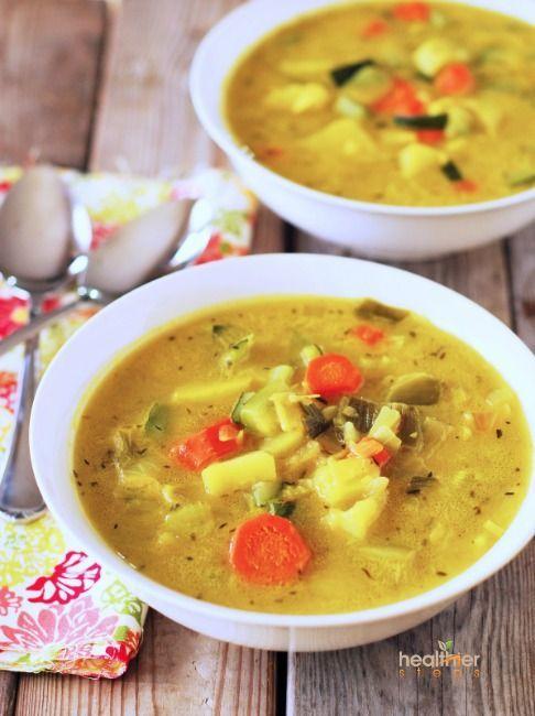 Potato Leek, Carrot and Zucchini Soup (Vegan) | Gluten Free and Vegan Recipes by Michelle Blackwood