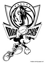 Dallas Mavericks And Mickey Mouse Playing Basketball MavericksColoring PagesMickey