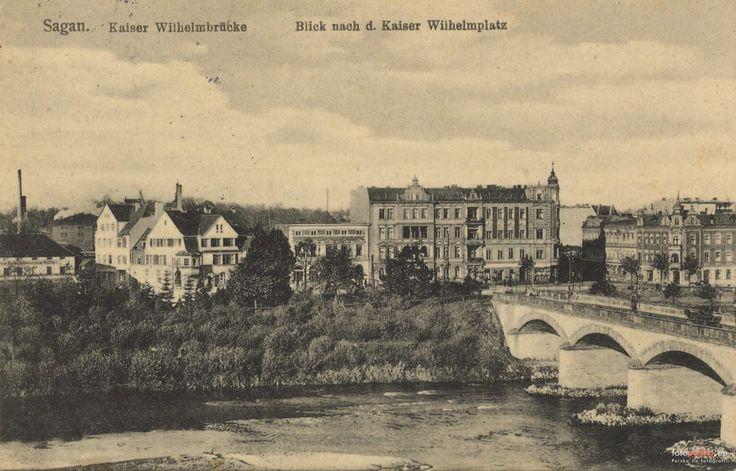 Most Żaganny (Kaiser Wilhelm Brücke), Żagań - 1923 rok, stare zdjęcia