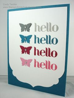:)Cards Sept Oct, Hello Butterflies, 2014 November, Su General, General Cards