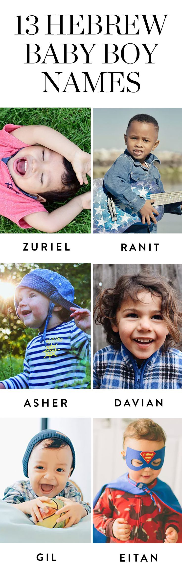Discover these Hebrew boy names that are steeped in tradition, but feel totally original. #hebrewnames #hebrewbabynames #hebrewboynames