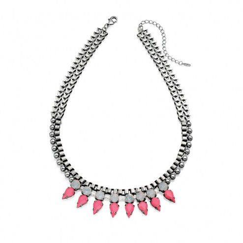 Fiorelli Costume Pink Spike Statement Necklace from aquaruby.com