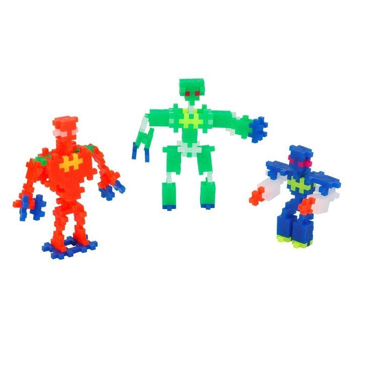 plus-plus mini 170 pieces- robots in neon colours