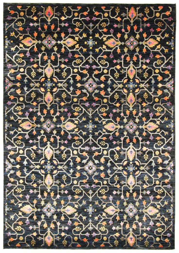 This hand knotted oriental Carpet from Loribaft Design is 237x166cm with 200.000 knots/sqm.