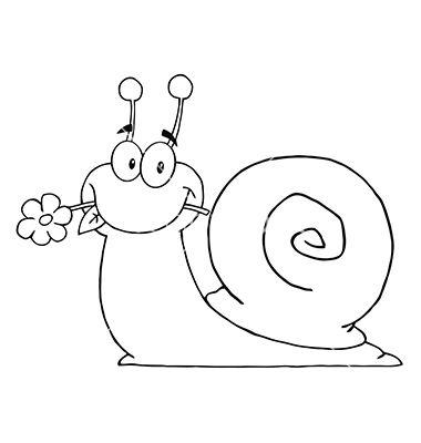 Cartoon snail vector 1561677 - by HitToon on VectorStock®