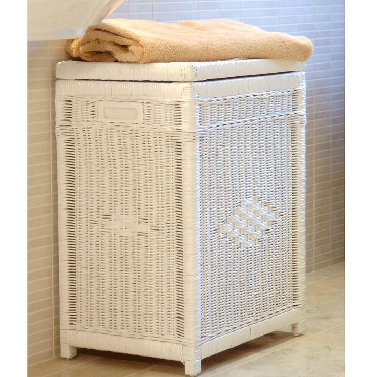 17 best ideas about white wicker laundry basket on pinterest wicker laundry hamper clothes - White wicker clothes hamper ...