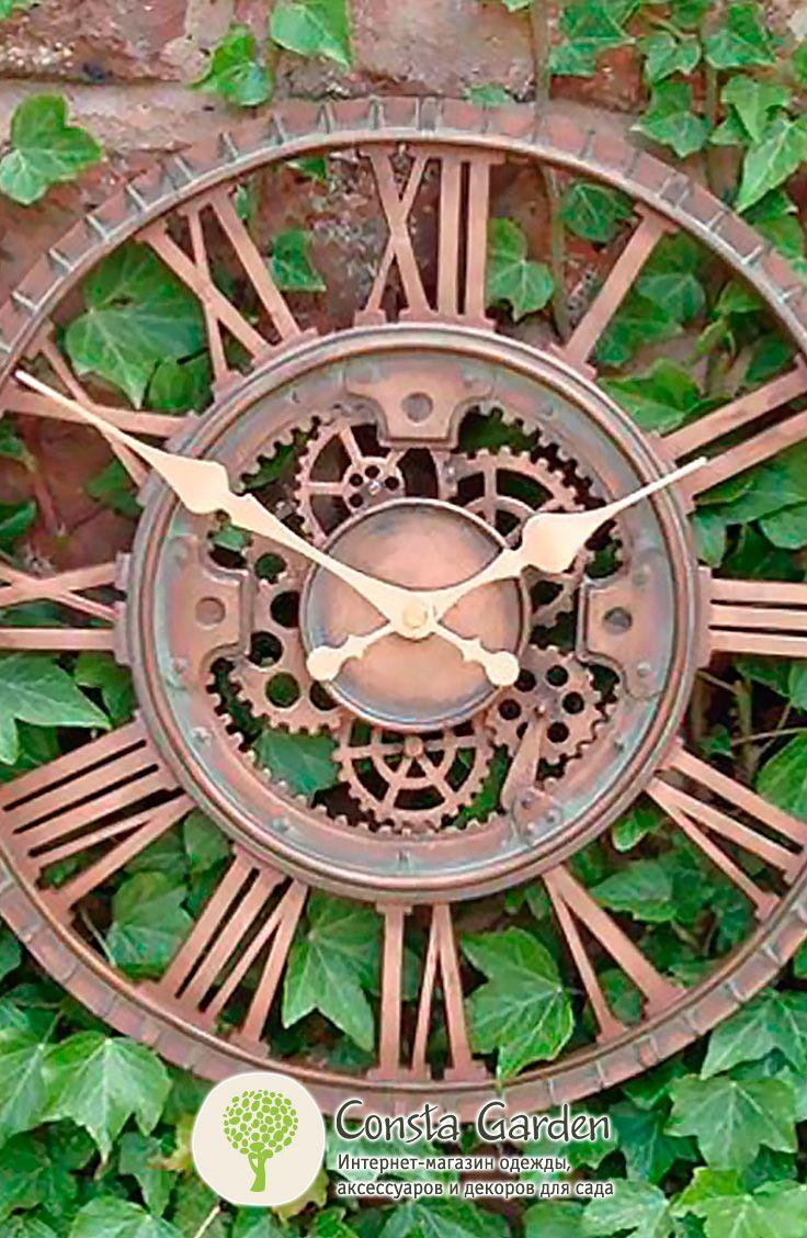 Уличные часы Wells Briers.Оригинальный и функциональный декор для внутреннего и внешнего использования для загородного дома, беседки, террасы  или балкона – часы с «видимым» часовым механизмом.