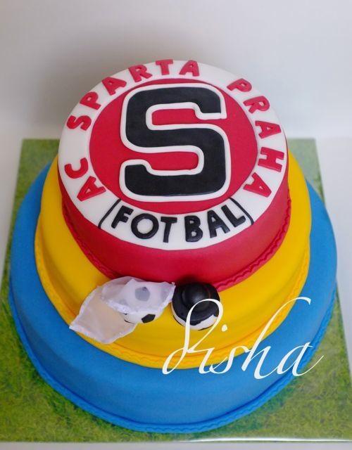 Wedding cake Sparta Praha - football team - for great funs :-) (svatební dort Sparta)