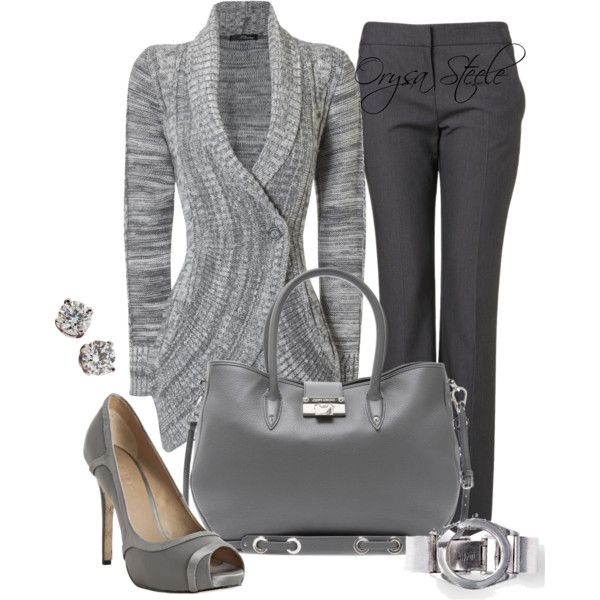 Work Outfit: Shoes, Gray Outfit, Sweaters, Work Clothing, Fashion Idea, Casual Winter, Grey, Winter Fashion, Work Outfit