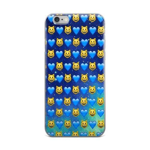 Cat & Blue Hearts Emoji Collage Across The Night Blue Sky & Stars Cute Teen Girly Girls Dark Blue iPhone 4 4s 5 5s 5C 6 6s 6 Plus 6s Plus 7 & 7 Plus Case - JAKKOUTTHEBXX - Cat & Blue Hearts Emoji Collage Across The Night Blue Sky & Stars Cute Teen Girly Girls Dark Blue iPhone 4 4s 5 5s 5C 6 6s 6 Plus 6s Plus 7 & 7 Plus Case - JAKKOU††HEBXX - JAKKOUTTHEBXX