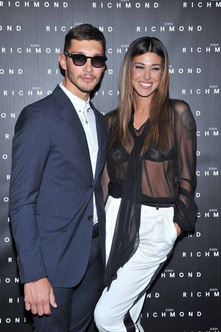 Belen Rodriguez and Stefano De Martino in John Richmond. #Belenrodriguez #stefanodemartino #johnrichmond