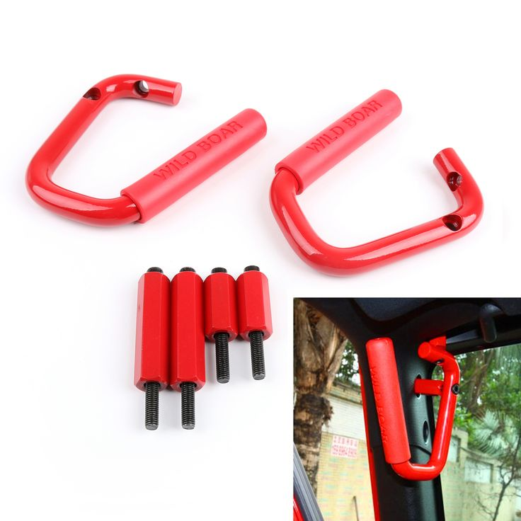 Mad Hornets - Pair Front Hard Mount Grab Handles Bar Aluminum Jeep Wrangler 2007-2016 Red, $89.99 (http://www.madhornets.com/pair-front-hard-mount-grab-handles-bar-aluminum-jeep-wrangler-2007-2016-red/)