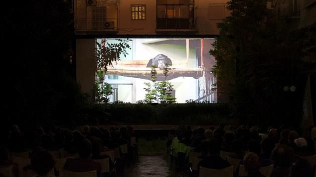 Douglas Gordon, I had nowhere to go, 2016, digital video transferred from Super 8 film and video, installation view, Municipal Cinema Stella, Athens