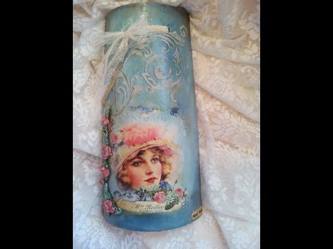 DIY! Decoupage on roof tile! Decoupage en la teja! Κεραμίδι ντεκουπάζ! - YouTube