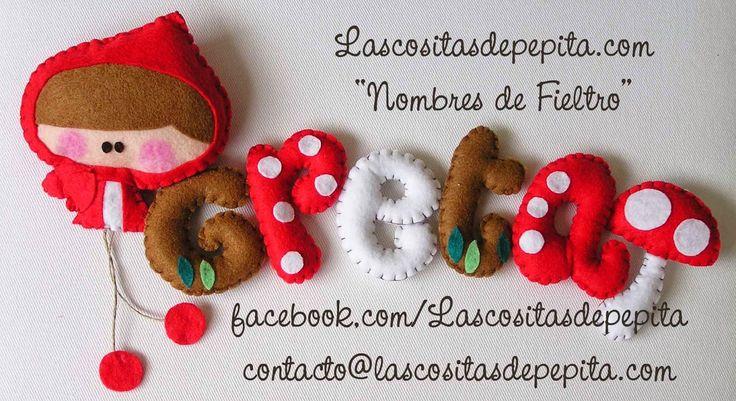 """Las cositas de Pepita: """"Nombres de fieltro"""" bonitos, originales y diverti..."""