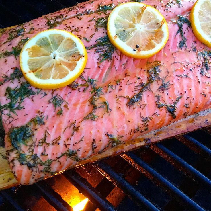 When you find a fresh piece of Organic Pacific Salmon, keep it simple... Cedar planked with lemon, dill, butter & evoo. @zimmysnook