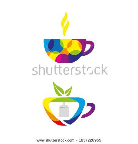 A set of tea icons