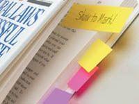 Poner notitas en tus frases favoritas.