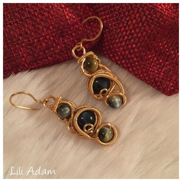 A personal favourite from my Etsy shop https://www.etsy.com/listing/492111005/wire-wrapped-earrings-goldfilled