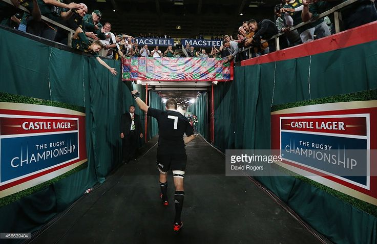 Richie McCaw, the All Black captain who broke the record for appearance for the All Blacks, walks down the tunnel after his teams defeat during the Rugby Championship match between the South African Springboks and the New Zealand All Blacks at Ellis Park Stadium on October 4, 2014 in Johannesburg, South Africa.