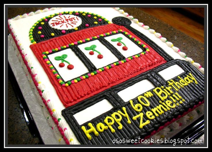 Pin Slot Machine Edible Party Cake Topper Decoration Image