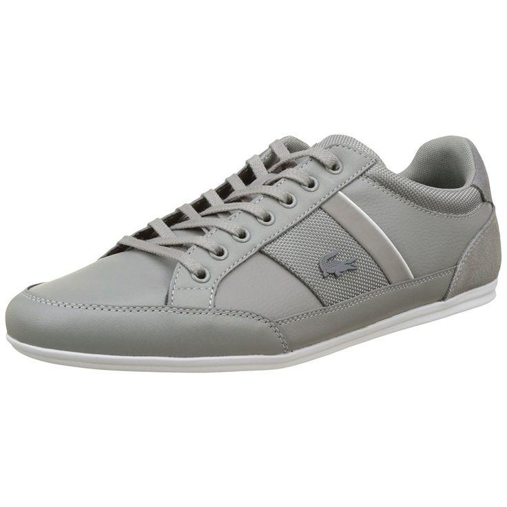 Buty męskie #LACOSTE Chaymon 116 1 w kolorze szarym z białą podeszwą, idealnie nadają się na sezon WIOSN-LATO 2017. Obuwie jest lekkie, wygodne bardzo eleganckie oraz wiązane są na sznurówki. Wykonano je z wysokogatunkowej skóry naturalnej.  #butymęskie #obuwiesportowe #butysportowe #kolekcjaLacoste