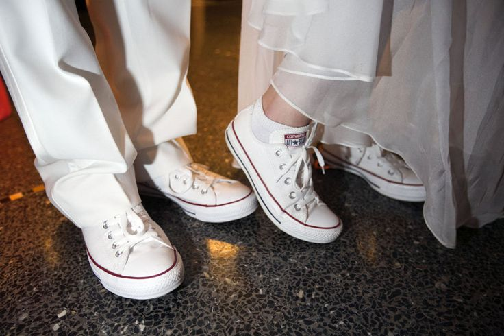 Prom style: matching Chuck Taylors at Clackamas High School prom 2015