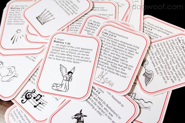 25 Days of Scriptures to tell and illustrate the story of Christmas - FREE Printable