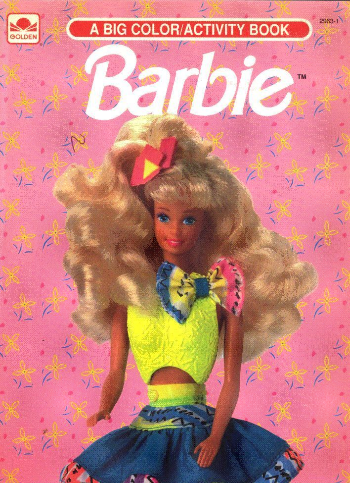 Vintage 1992 Barbie Coloring Activity Book By Golden