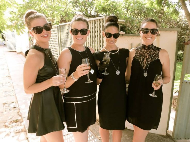 Breakfast @ Tiffany's Themed Hen's Party - Bridesmaids Outfits - Holly Golightly