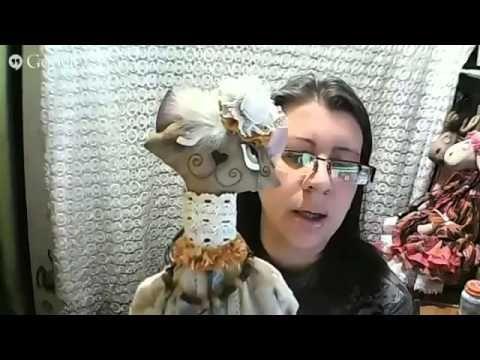 Анастасия Голенева Очарование винтажных текстильных игрушек - YouTube
