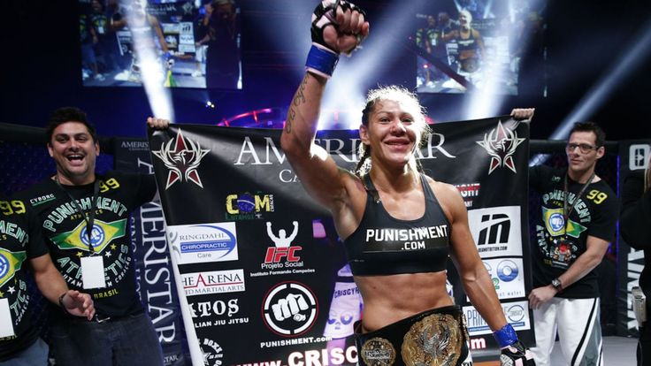 """Invicta FC featherweight champion Cristiane """"Cyborg"""" Santos sent a message to UFC champ Ronda Rousey with a dominant 46 second knockout victory over Charmaine Tweet in the main event of Invicta FC 11 on Friday night (Feb. 27, 2015)."""