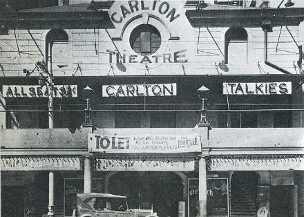 Page TitleThe Carlton Theatre in Johannesburg opened its doors in 1912 and was   situated in Market Street. Photo above was taken twenty-one years later in   1933, shortly before the building was demolished. Note the 'To Let' sign   hanging just above the entrance doors