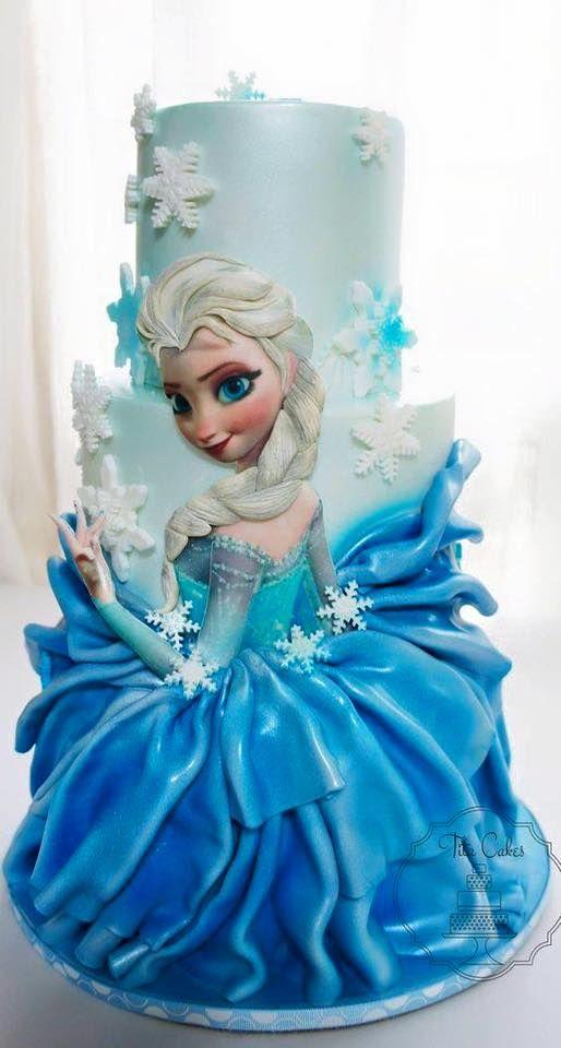 Faszination pur, wow wow wow ... perfekt genial  - Eiskönigin Walt Disney (Torte)