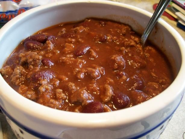 Steak-N-Shake Chili. Making this right now!
