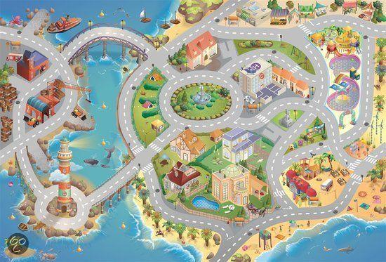 bol.com | Speelkleed Connect - Een dagje naar het water / 100 cm x 150 cm | Speelgoed...