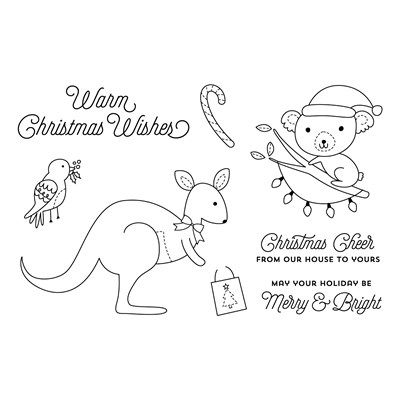 Aussie up your Christmas spreads with this limited edition Christmas Down Under stampset, C1663. $21 @ CreatingwithKaraDavies.closetomyheart.com.au