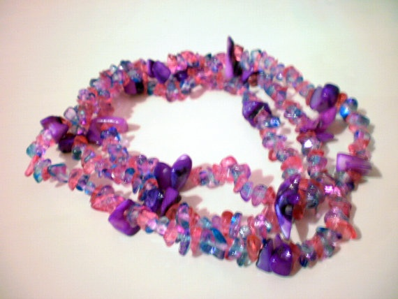 Long purple necklace by katerinaki106 on Etsy