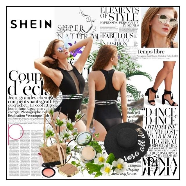 """SHEIN 4/10"" by eldina12 ❤ liked on Polyvore featuring Olive, Bela, Hedi Slimane, SAM., Salvatore Ferragamo, Stila, Origins, Dolce&Gabbana and Vera Wang"