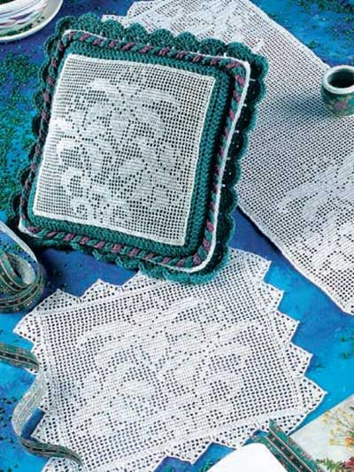 Crochet For The Home Crochet Decor Patterns Lily Filet Sets