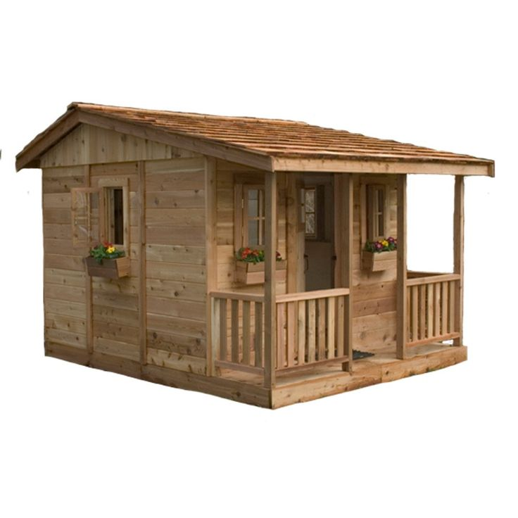 Kids of all ages will love our Cozy Cabin Playhouse! The Cozy Cabin is 7' Wide…