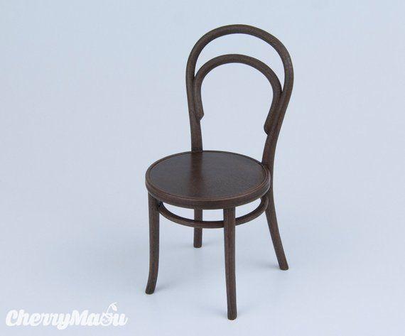 Thonet Chair N14 Scale 1 6 3d Print Miniature For Diorama Etsy Thonet Chair Chair 3d Printing