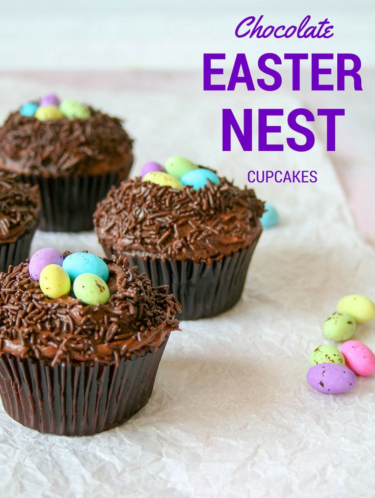 Cupcakes & Couscous: CHOCOLATE EASTER NEST CUPCAKES, something fun to make with the kids in the holidays!