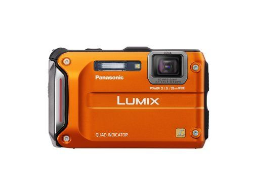 Panasonic Lumix TS4 12.1 TOUGH Waterproof Digital Camera with 4.6x Optical Zoom (Orange) by Panasonic.