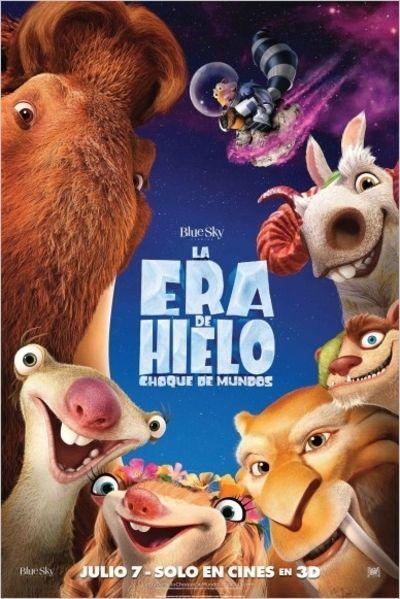 """TWENTIETH CENTURY FOX presenta la quinta película de una de las sagas más exitosas de la distribuidora junto con BLUE SKY Studios es """"La era del hielo, choque de mundos""""."""