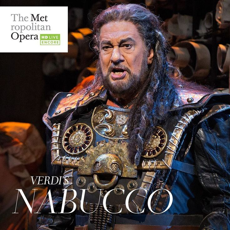🍿🎬#MetHD The legendary @placido_domingo is back by popular demand in the title role of Verdi's Nabucco under the baton of his longtime collaborator James Levine. Summer Encore of #Nabucco tomorrow at 7pm local time in select venues! #Met #Opera #MetOpera #Nabucco #PlacidoDomingo #Verdi