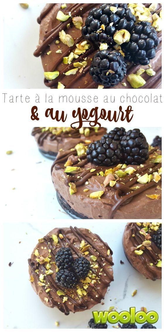 Cette tarte à la mousse au chocolat et au yogourt est une délicieuse façon d'intégrer votre yogourt au dessert!