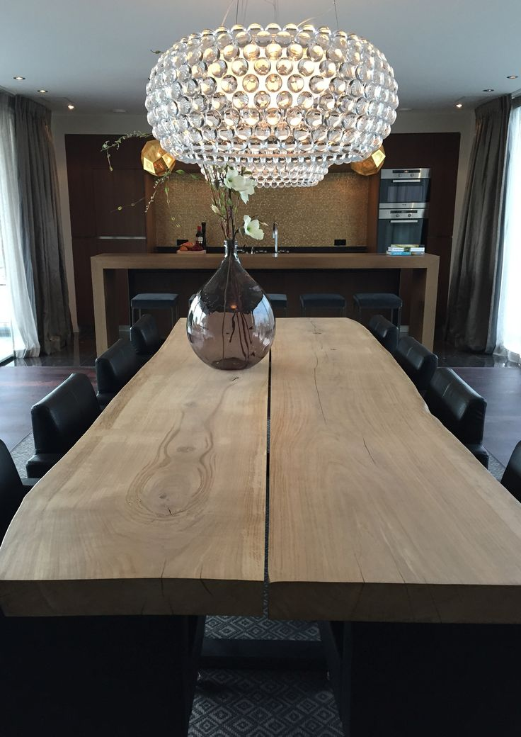project choc studio interior - zwaanshoek the netherlands - table Dutch oak and lights by Foscarini Caboche